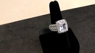 Princess Cut 7.9 Ct Cubic Zirconia Ring || Fashion Jewelry || Affordable Luxury