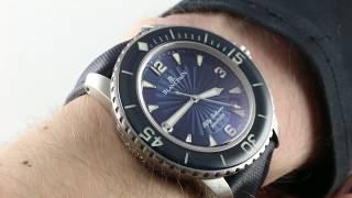 Blancpain Fifty Fathoms (Big Blue) 5015D-1140-52B Luxury Watch Review