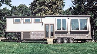 Gorgeous Luxury Tiny Home w/ Raised Living Room & Office Space w/ Murphy Bed