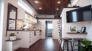 Impressive Modern Wooden Luxury Ultra-Functional Tiny House w/ Superior Quality Materials
