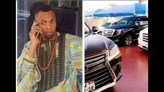 wow!! Rev Obofour shows off his multi billion luxury cars and expensive home