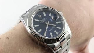 Rolex Datejust II (BLUE DIAL) 116334 Luxury Watch Review