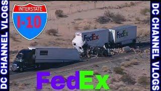 FedEx Semi Rear Ended Stevens Transport Semi I-10 West Phoenix | VLOG