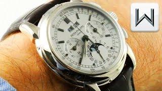 Patek Philippe 5970G-001 Perpetual Calendar Chronograph Luxury Watch Review