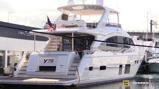 2019 Princess Y75 Luxury Yacht - Deck Interior Bridge Walkthrough - 2019 Miami Yacht Show