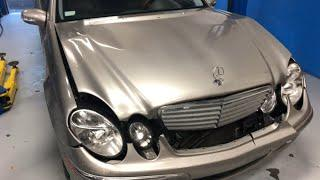 Mercedes E320 after accident repair