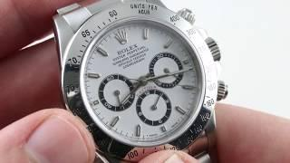 Rolex Cosmograph Daytona (ZENITH EL PRIMERO) 16520 Luxury Watch Reviews