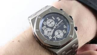 Audermars Piguet Royal Oak Offshore Chronograph 25721TI.OO.1000TI.04 Luxury Watch Review