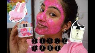 LUXURY GIRLY HAUL + GLAMGLOW GLITTER MASK FIRST IMPRESSIONS!