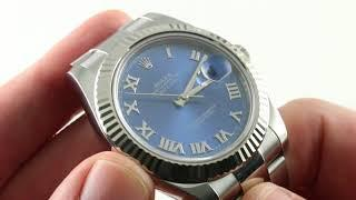 Rolex Datejust II 116334 Blue Dial With Fluted Bezel Luxury Watch Review