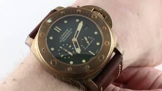 "Panerai Luminor Submersible 1950 3-Days Power Reserve ""Bronzo""  PAM 507 Luxury Watch Review"