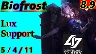Biofrost as Lux Support - S8 Patch 8.9 - Full Gameplay