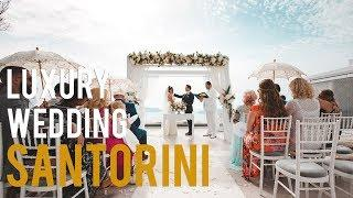 LUXURY WEDDING: SANTORINI | My first wedding film