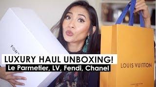 LUXURY HAUL UNBOXING! Le Parmentier Paris, Louis Vuitton, Fendi, Chanel