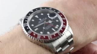 "Rolex GMT-Master II ""COKE"" Bezel 16710 Luxury Watch Review"