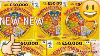 SCRATCHCARDS ..NEW MONEY SPINNER ..I MILLION CAH SPECTACULAR..LUXURY LIN ES .PAY OUT .CASH WORDS .