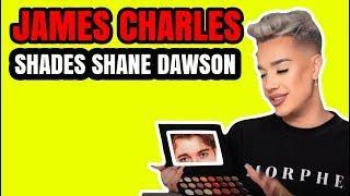 JAMES CHARLES SHADES SHANE DAWSON MAKEUP DRAMA