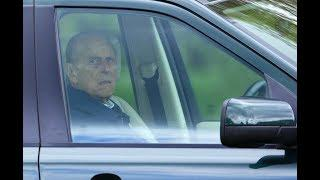 Prince Philip, 97, was driving his Range Rover when it hit car and flipped