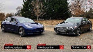 Tesla Model 3 Vs. Genesis G70 – Battle For The Future?