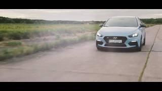Driving the new Hyundai i30n Performance on an airport