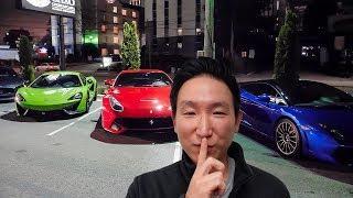 SECRET VIP LUXURY CAR EVENT!  *SMOKE BOMBS*