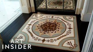 Designer Creates Custom Floor Inlays For Luxury Spaces