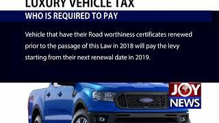 LUXURY VEHICLE TAX: All you need to know!  (1-08-18)