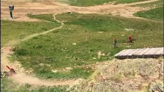 10 ft drop to face mountain bike crash