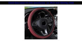 car 38cm auto Steering wheel Artificial Leather Braid Cover for Peugeot 206 307 406 407 207 208 30