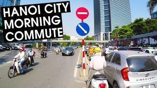 Hanoi City Morning Commute | 4K Motorbike Ride | LIFE IN VIETNAM 2018