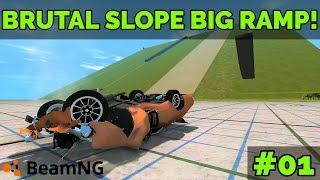BEAMNG - BRUTAL SLOPE 2.0 BIG RAMP!! #01