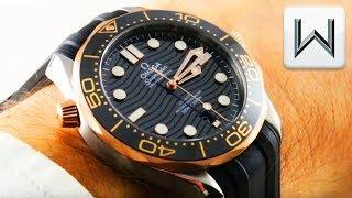2018 OMEGA SEAMASTER DIVER 300M (Sedna Gold/Steel) 210.22.42.20.01.002 Luxury Watch Review