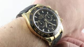 Rolex Daytona OYSTERFLEX 116518LN (Black Dial/ Cerachrom Bezel) Luxury Watch Review