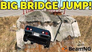 BEAMNG - BIG BRIDGE JUMP! #01