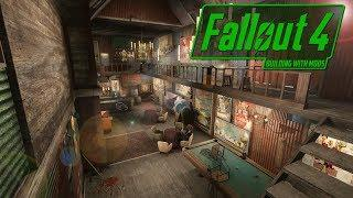 Completed Luxury Bar Build - Dystopian Diamond City - Fallout 4!