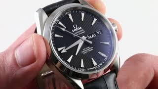Omega Seamaster Aqua Terra 150m Annual Calendar 231.53.39.22.02.001 Luxury Watch Review