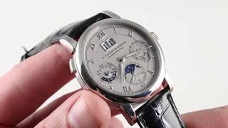 A. Lange & Sohne Langematik Perpetual Calendar 310.025F Luxury Watch Review