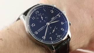 IWC Portuguese Chronograph IW3714-47 Luxury Watch Review