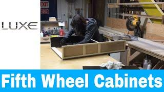 Luxury fifth wheel Hardwood cabinets- Hand crafted