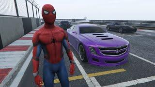 ????️Spiderman Drives Fast on a Stony Grounded Track????️ - Kids Songs for Children????????????