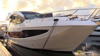 2019 Galeon 650 Sky Luxury Yacht - Deck Interior Walkaround - 2018 Fort Lauderdale Boat Show