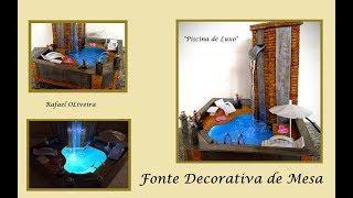 Fonte Decorativa Piscina de Luxo Decorative Fountain Luxury Pool