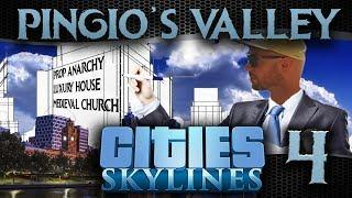 Pingio's Valley #4 | Cities Skylines | Prop Anarchy, Luxury Manor & Medieval Church