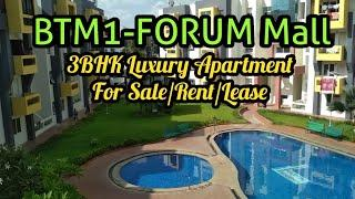 Pool Facing 3BHK Luxury Apartment in BTM Layout 1 Near Metro & Forum Mall
