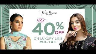TAANA BAANA SALE 2019 ON LUXURY DRESSES FLAT 40% OFF//WOMEN DESIGNER DRESSES