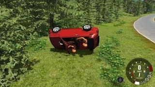 Random Cars, Container trucks, and Racing car - Highway and Dirt-Road Crashes – Beamng.Drive #447