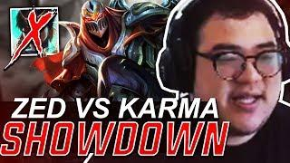 Scarra- ZED VS KARMA SHOWDOWN! (WHO WILL WIN?)