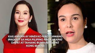 Kris Aquino HINDI NAKAPAGPIGIL ISINUPALPAL kay Gretchen Barretto ang kanyang mga PAID TAXES!