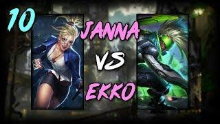 Road To Diamond #10 | Mid: Janna vs. Ekko - League of Legends [Full Gameplay]