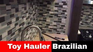 Luxe fifth wheel Toy Hauler Brazilian interior - luxury toy hauler